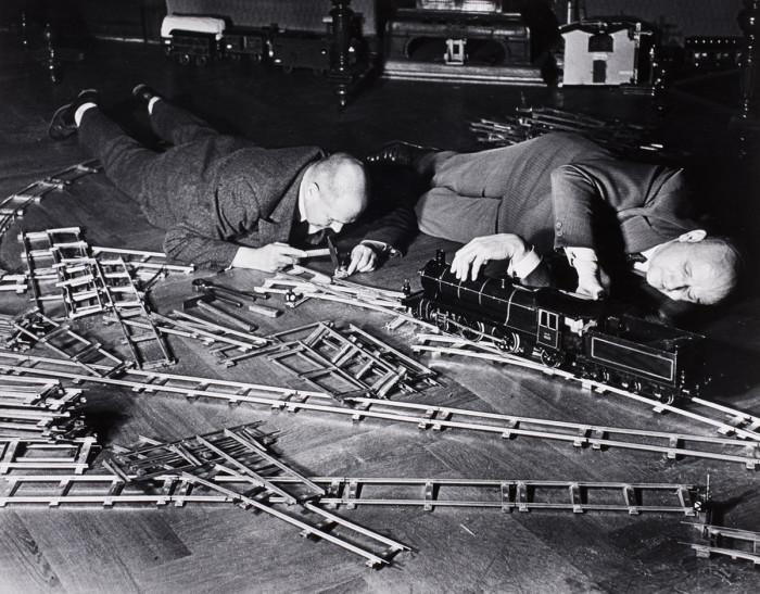 Общество любителей игрушечных поездов. Берлин, Германия, 1931 год.