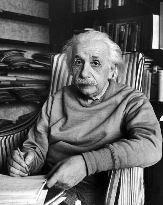 Альберт Эйнштейн в Принстоне в 1948 году.