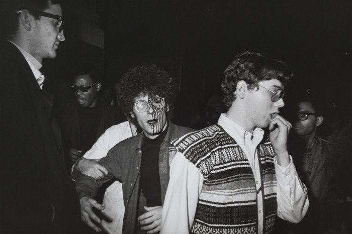 Пострадавший во время демонстрации на Мэдисон-сквер-гарден. США, Нью-Йорк, 1968 год.