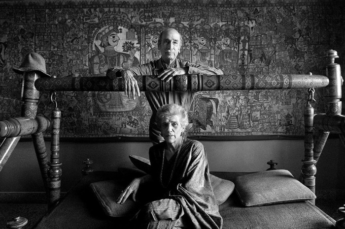 Талантливый индийский художник Джахангир Сабавала со своей женой.