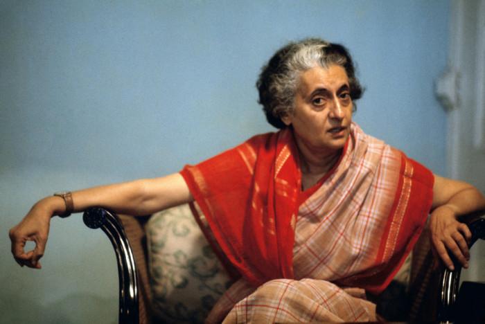 Портретный снимок единственной женщины премьер-министр Индии.