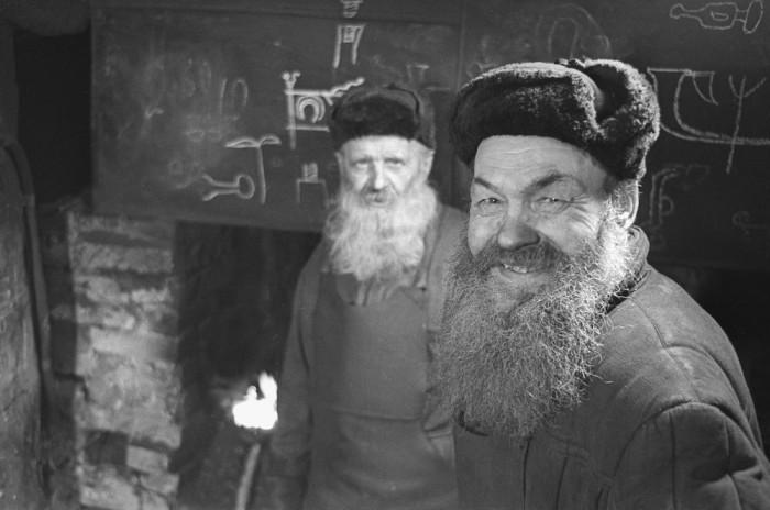 Портретный снимок «Псковских кузнецов». СССР, 1965 год.