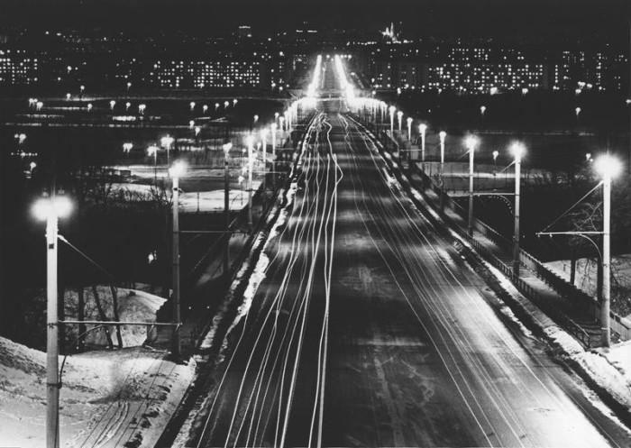 Мост Лужники в Москве. СССР, 1960 год.