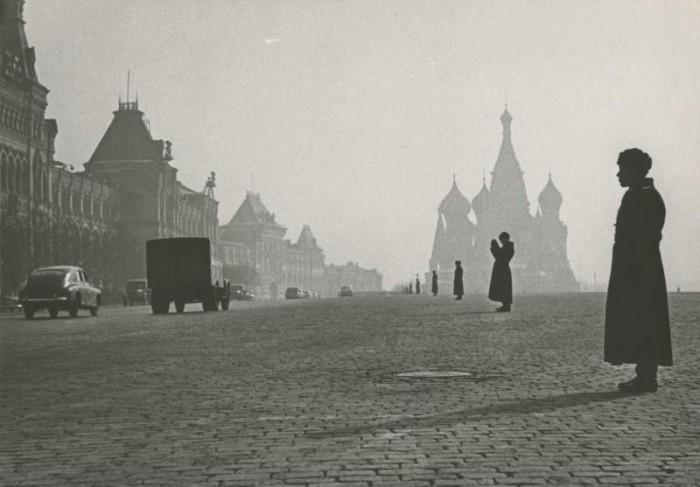 Красная площадь утром. СССР, 1960 год.