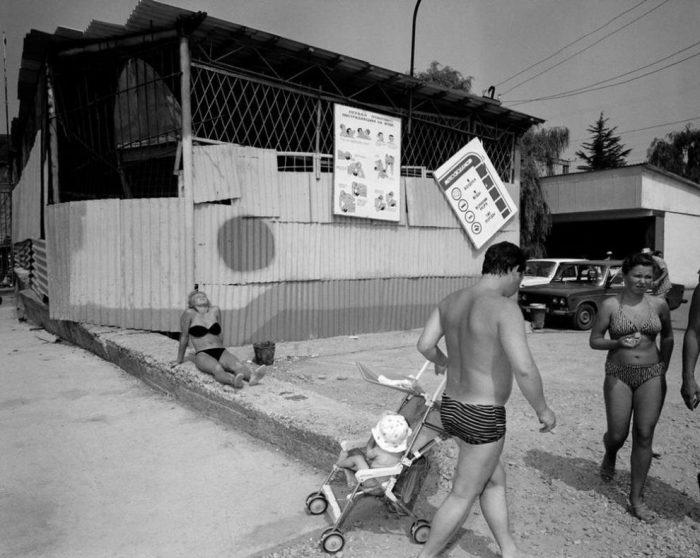 Отдых на побережье Черного моря. СССР, Сочи, 1988 год.