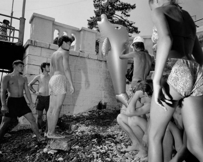 Молодежь развлекается. СССР, Сочи, 1988 год.