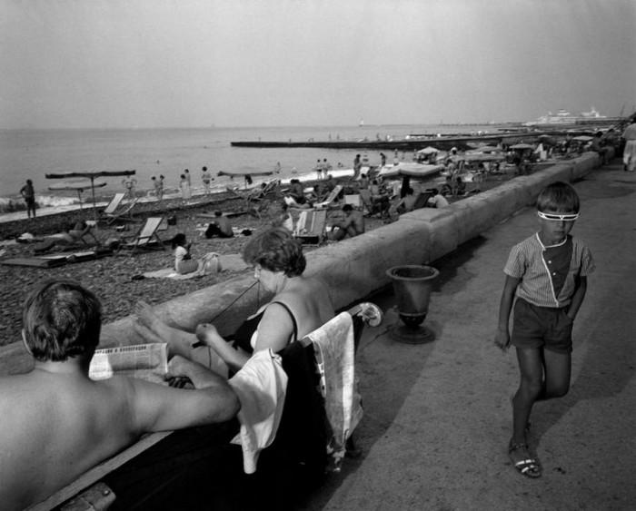 Морская набережная Центральной части Сочи. СССР, Сочи, 1988 год.