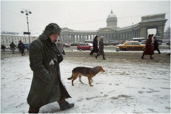 Невский проспект. Россия, Санкт-Петербург, 2000 год.