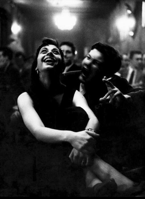 Молодая пара в Storyville. Франкфурт, 1956 год.