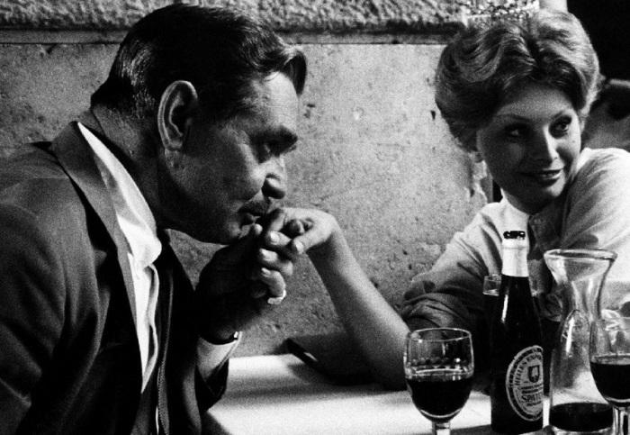 Кларк Гейбл и Софи Лорен. Италия, Рим, 1959 год.