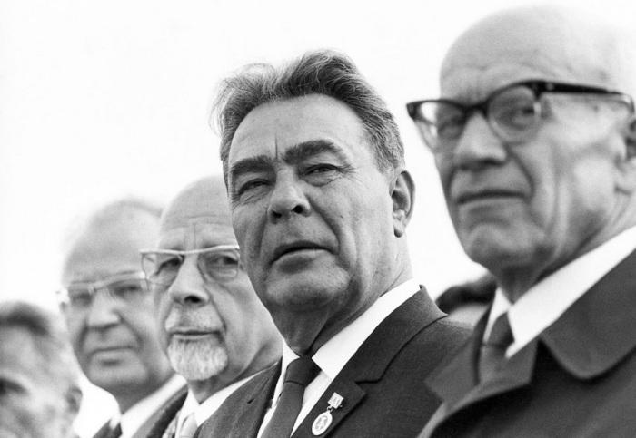 Леонид Брежнев. Восточный Берлин, 1969 год.