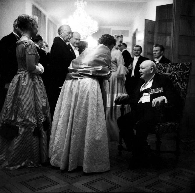 Уинстон Черчилль. Бонн, 1956 год.