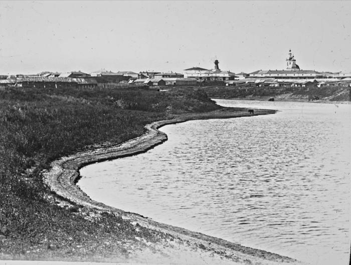 Большая река, которая является крупнейшим притоком Иртыша. Россия, Курган, 1895 год.