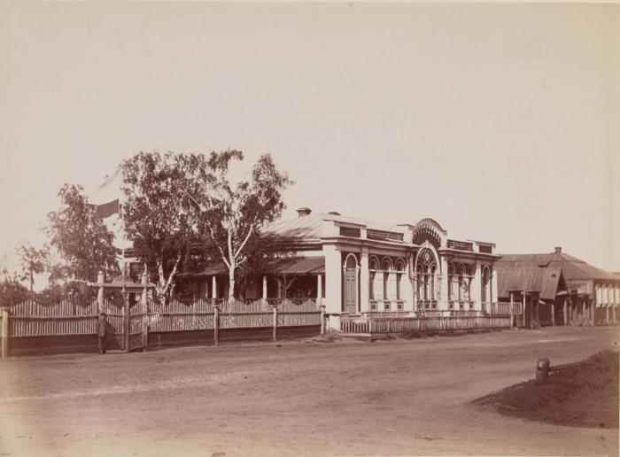 Общественное собрание, которое располагалось в доме барона Розена. Россия, Курган, 1895 год.