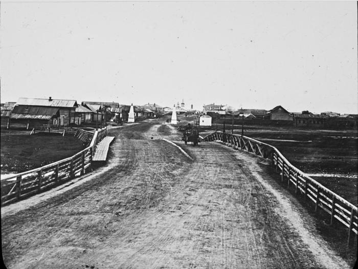 Въезд в город Курган. Россия, 1895 год.
