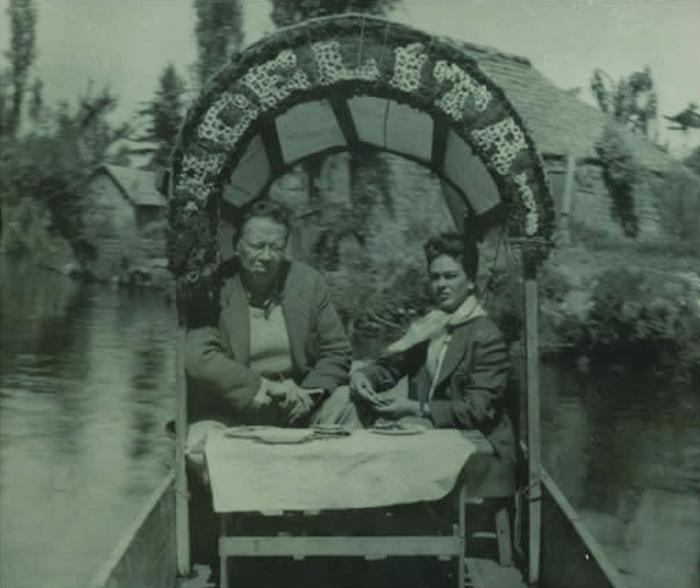 Портретная фотография Фриды Кало и Диего Риверы.
