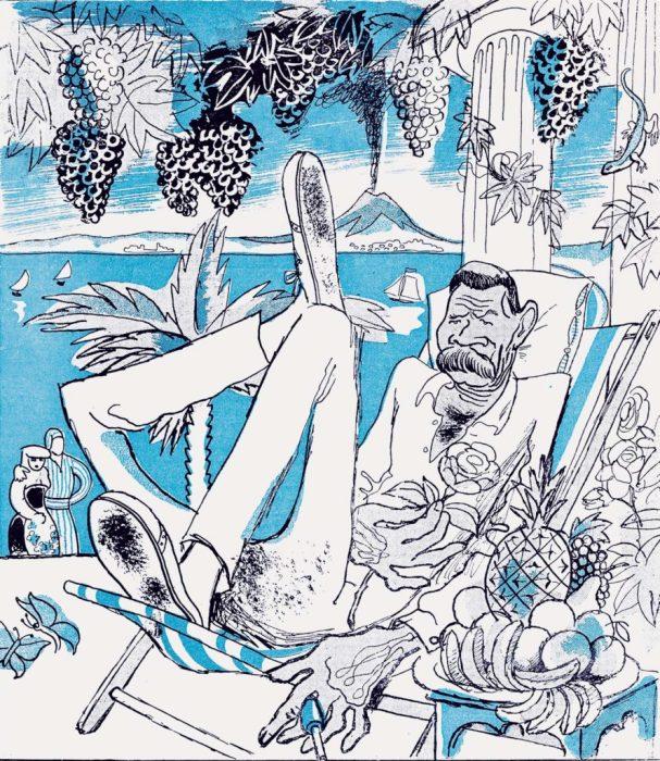 Карикатура на одного из самых значительных и известных в мире русских писателей и мыслителей.