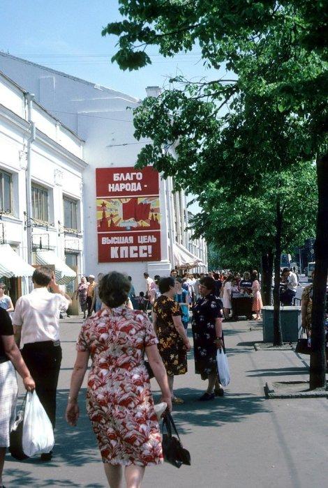 На улицах города Владимир в 1985 году.