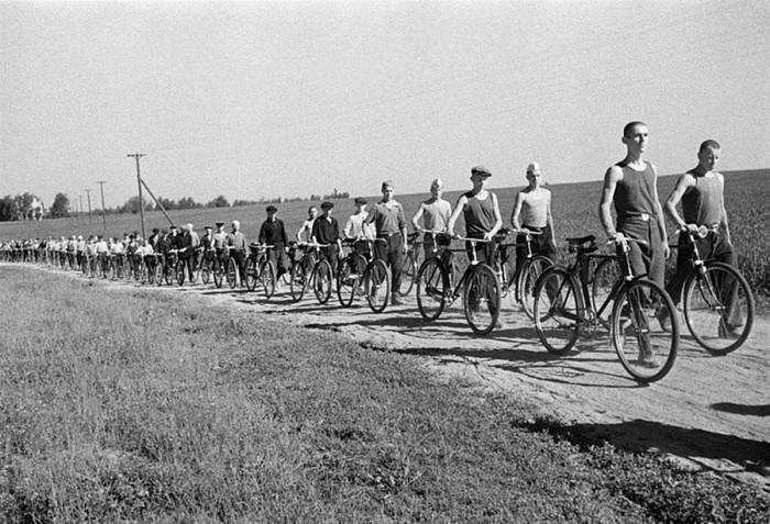 Ополченцы под Москвой, 1941 год.