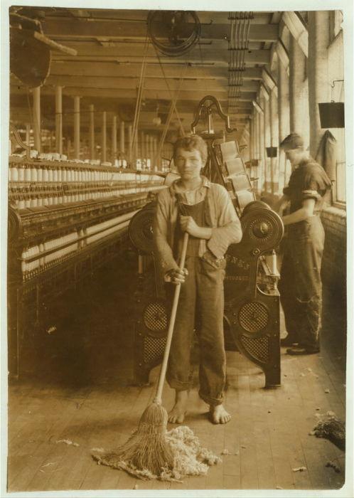 Уборщик служебных помещений на Беркширской Хлопкопрядильной Фабрике.