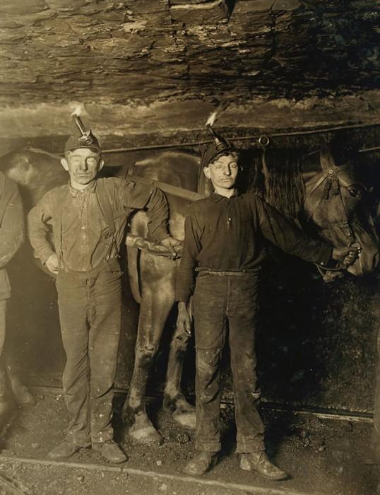 Детский труд в американской угольной шахте.
