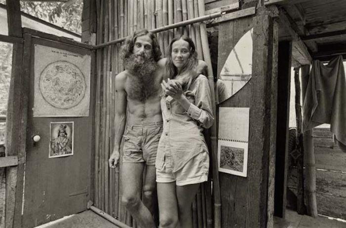 Ретро фотография американских хиппи.