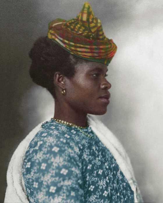 Женщина из Гваделупы, эмигрировавшая в Америку в 1911 году.