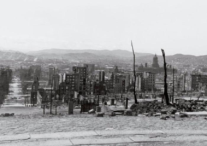 Сан-Франциско после землетрясения. США, 1906 год.
