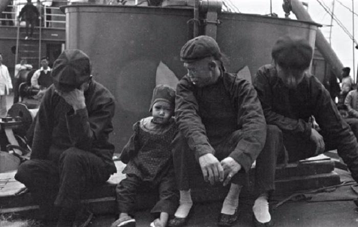 Пассажиры корабля S.S. Siberia в 1904 году.