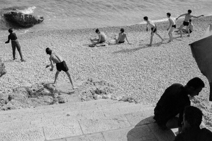 Пляж в одном из красивейших городов Адриатики. Хорватия, Дубровник, 1964 год.