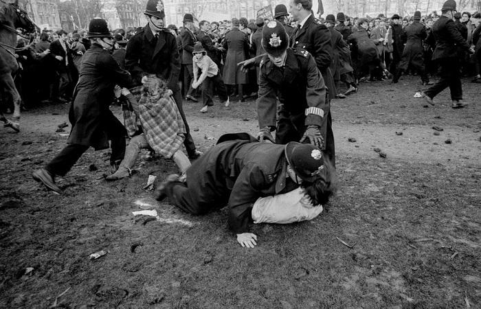 Акции протеста в Лондоне в 1968 году.