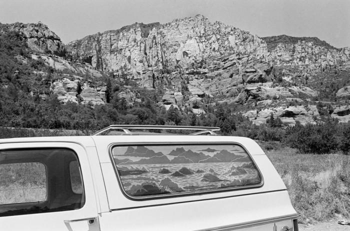 На территории национального парка «Гранд-Каньон». США, Аризона, 1980 год.