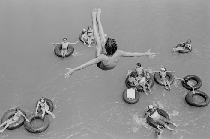 Активный отдых на речке. США, Аризона, 1980 год.