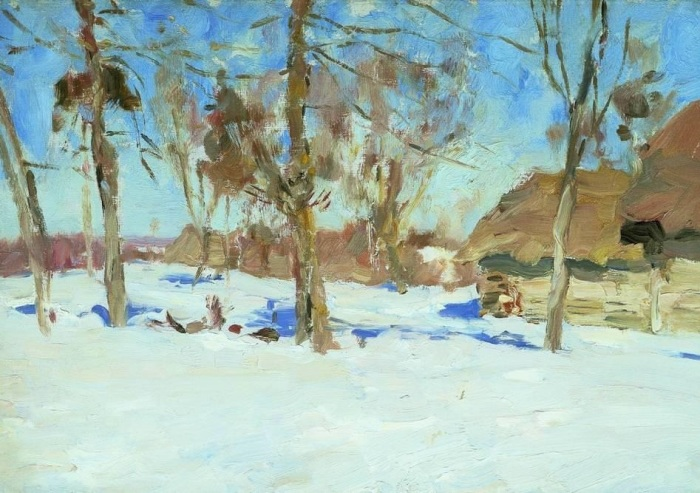 Хрестоматийный пейзаж Исаака Левитана, написанный в 1895 году.