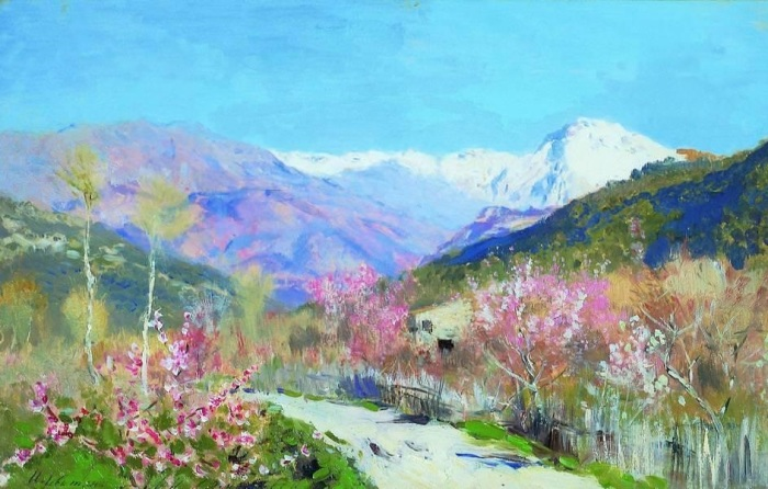 Картину «Весна в Италии» Исаак Левитан написал в 1890 году.