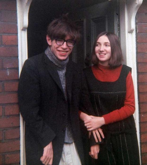 Стивен Хокинг с женой Джейн Уайлд, 1965 год.