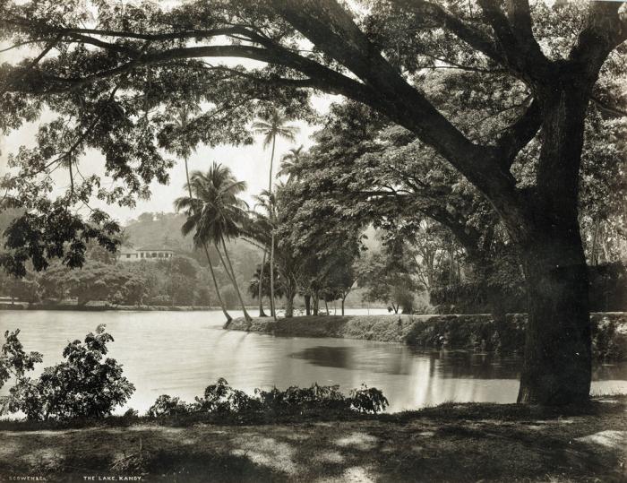 Искусственное озеро в центре города Канди.
