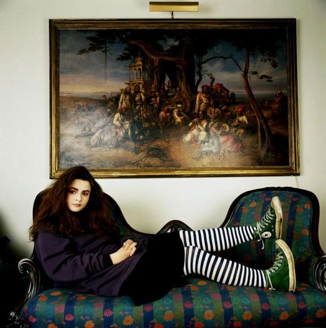 Портретный снимок Хелены Картер в 1986 году.