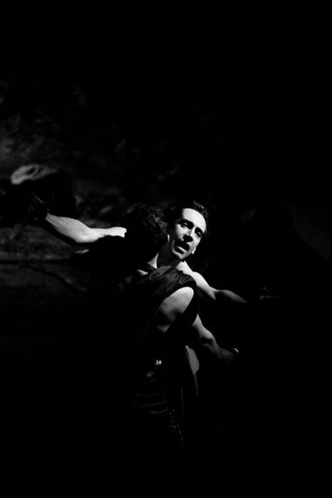 Британский актёр Джонатан Хайд в трагедии Уильяма Шекспира. Великобритания, Королевский Шекспировский театр, Стратфорд-на-Эйвоне, 1991 год.