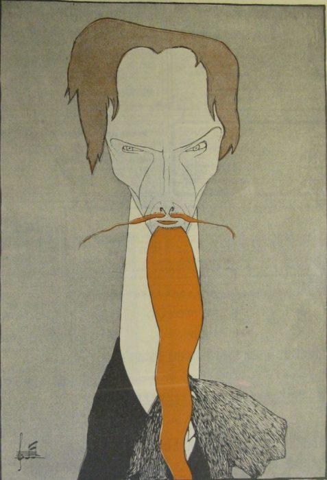 Карикатура на известного русского писателя.