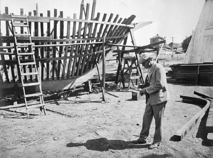 Последствия русско-японской войны в объективе Джека Лондона. Бухта Антунг, Маньчжурия, 1904 год.