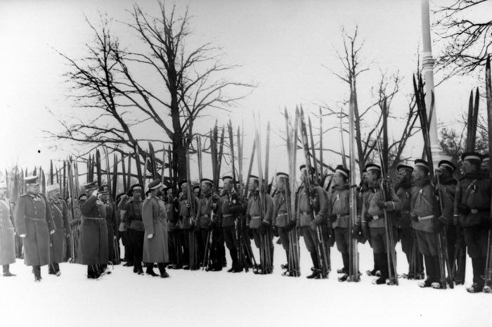 Император Николай II проводит смотр Лейб-гвардейского Измайловского полка.