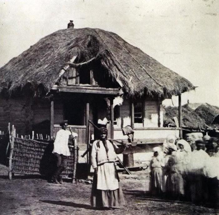 На дворе казака, 1876 год.