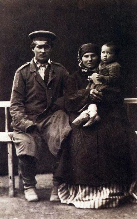 Казачье семейство в 1876 году.