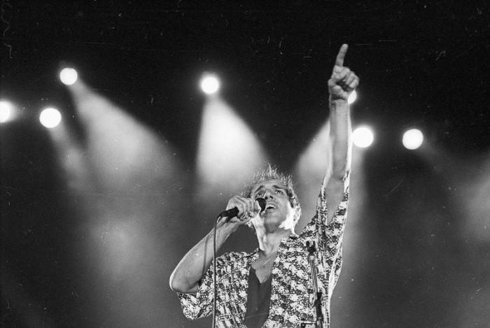 Знаменитый итальянский певец и актер. СССР, Москва, 1987 год.