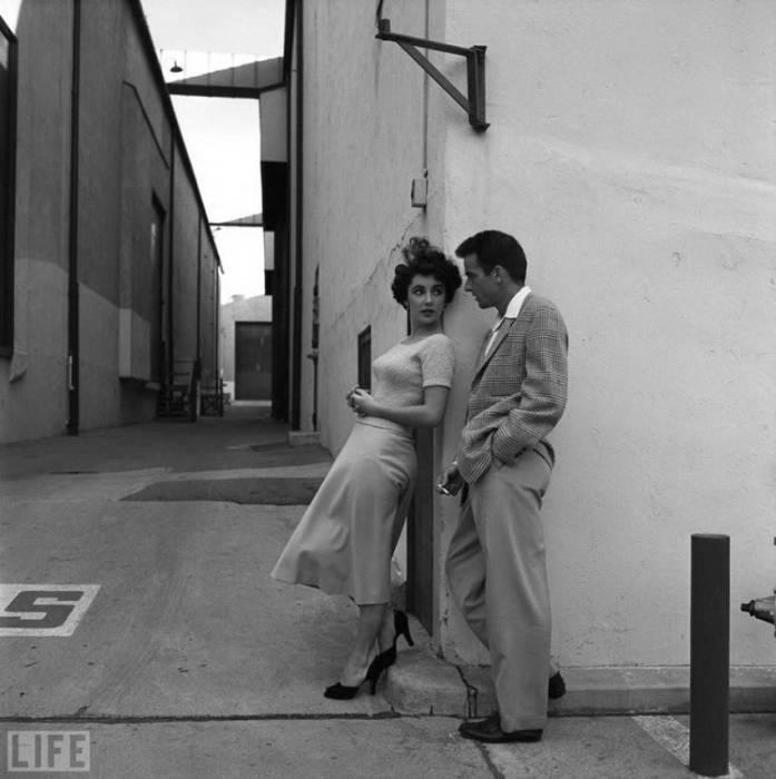 На съемках фильма «Место под солнцем». Автор фотографии: Петер Стакпол, 1950 год.