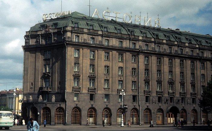 Гостиница Астория в Ленинграде в 1985 году.