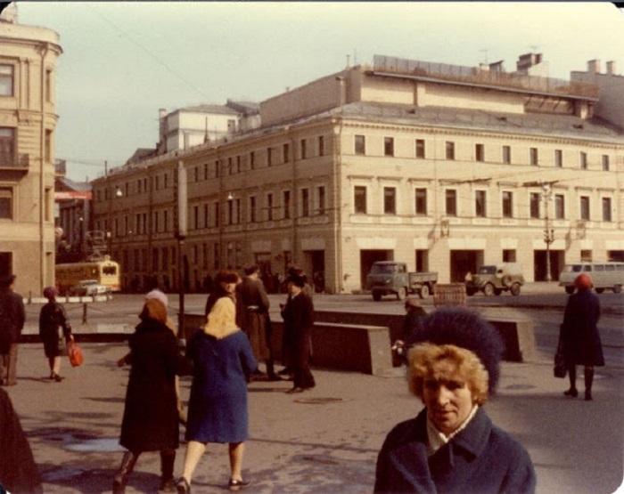 Главная улица. СССР, Ленинград, 1976 год.