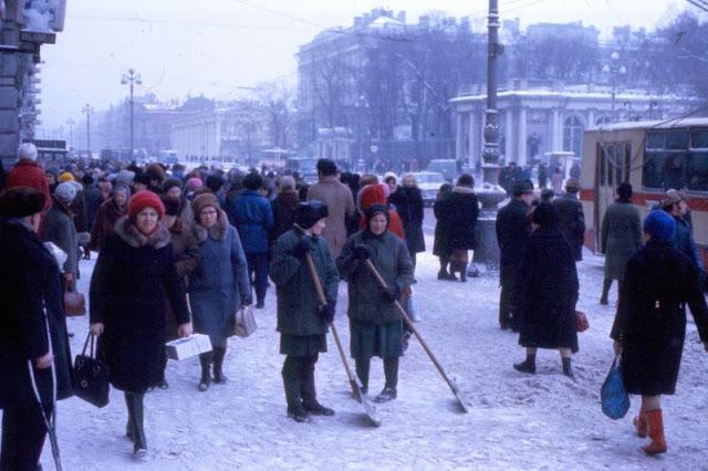 Невский проспект. СССР, Ленинград, 1977 год.