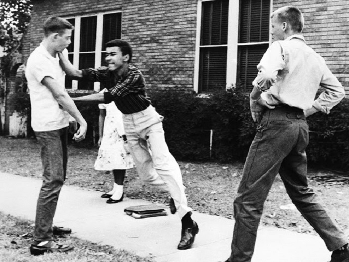 Расовая дискриминация.  США, Литл-Рок, Арканзас, 1958 год.